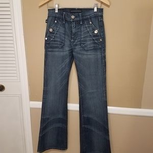 Rock & republic suzie dark wash jeans flare 27
